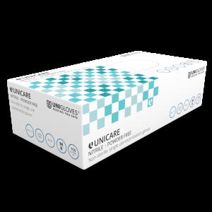 UNIGLOVES Nitrile - Gants d'examen médical non poudrés - Coffrets 10 boîtes, 100 gants par boîte