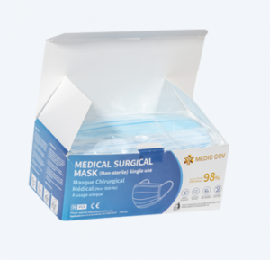 SURGICAL MASK  3-PLY IIR (BOX OF 50)