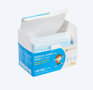 MASQUE 3-PLIS TYPE IIR ENFANT (Boîte de 50)